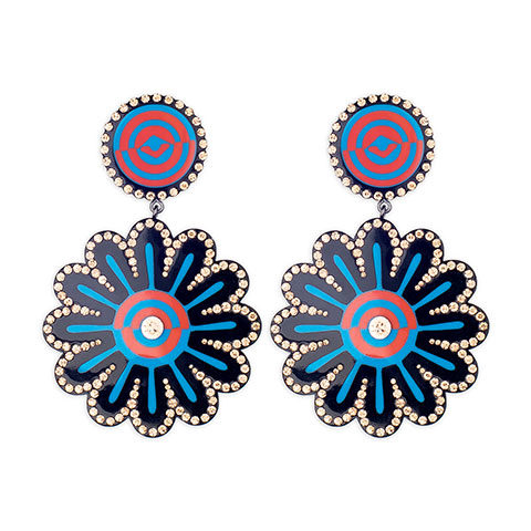 Earrings Black Bloomer