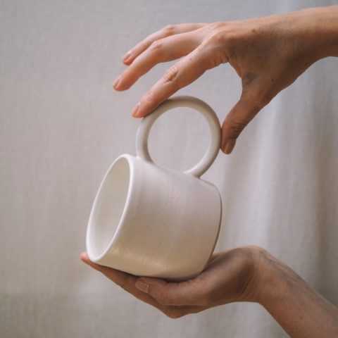 "Taza ""round handle white"""