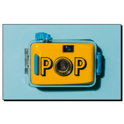 Yellow analog camera