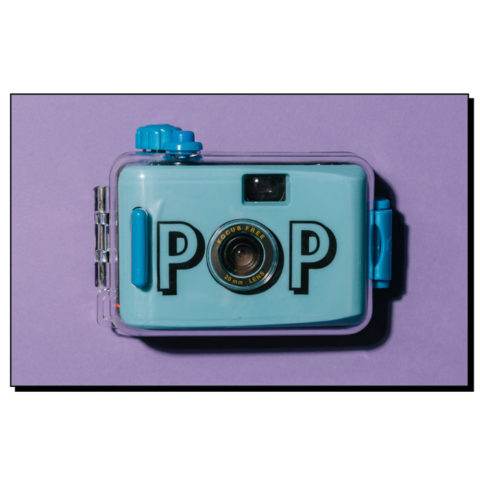 Blue analog camera