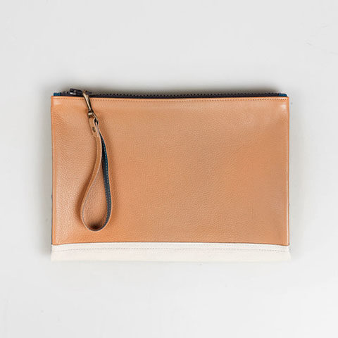 Leather paper holder Rosemary