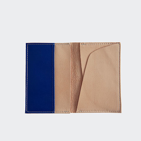 Beige leather card holder
