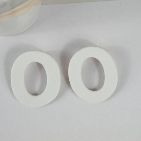 Pendientes de porcelana Hoop