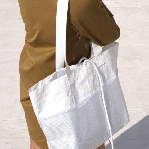 Bolsa de carga rectangular blanca