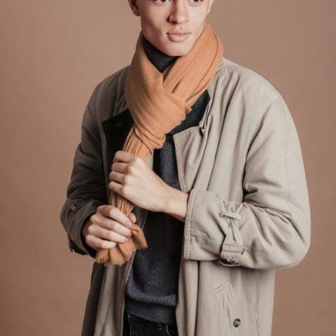 Bufanda extra larga cobre hombre