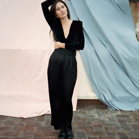 Pantalon de vestir largo negro