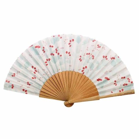 Figueras multicolor printed fan