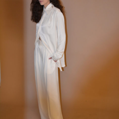 Pantalon de vestir largo blanco