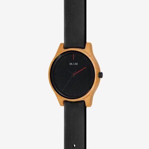 Reloj de madera negro Areno 615