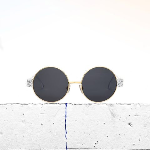 Gold and blue sunglasses Iris