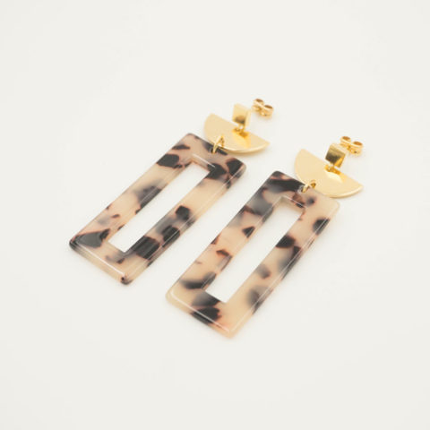 Beige earrings Ventana