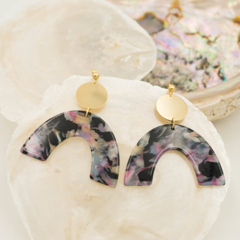 Lilac earrings Parabole