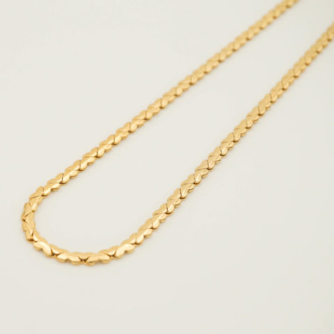 Gold necklace Hearts