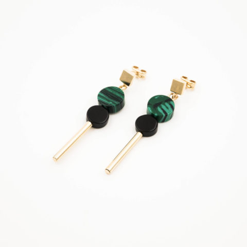 Green earrings Hub