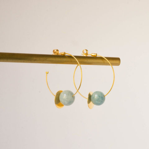 Blue earrings Atmosphere