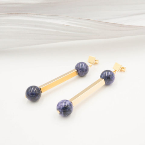Lilac earrings Lever