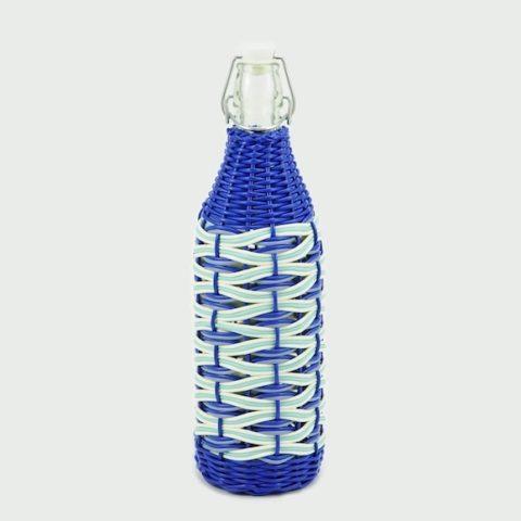 Botella Clementina ondas azules