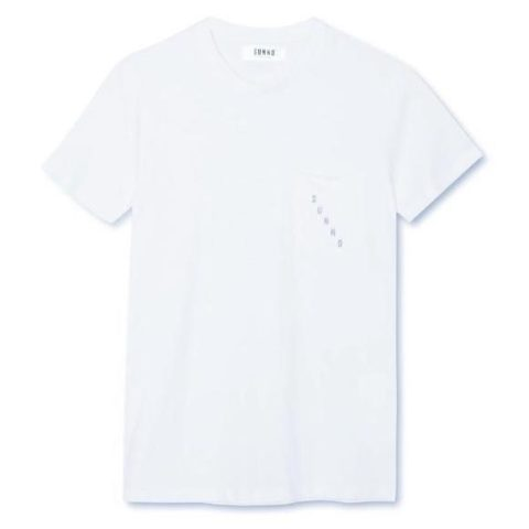 Camiseta Embroidered Pocket blanca