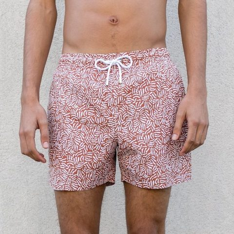 Short de baño Obi Soft terracota