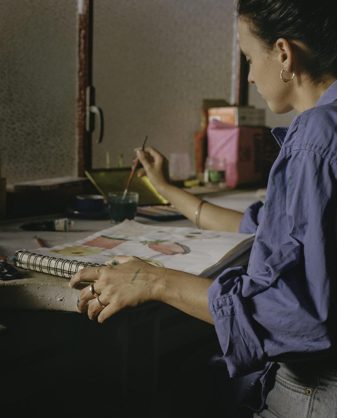Anillo minimalista de plata Floriane
