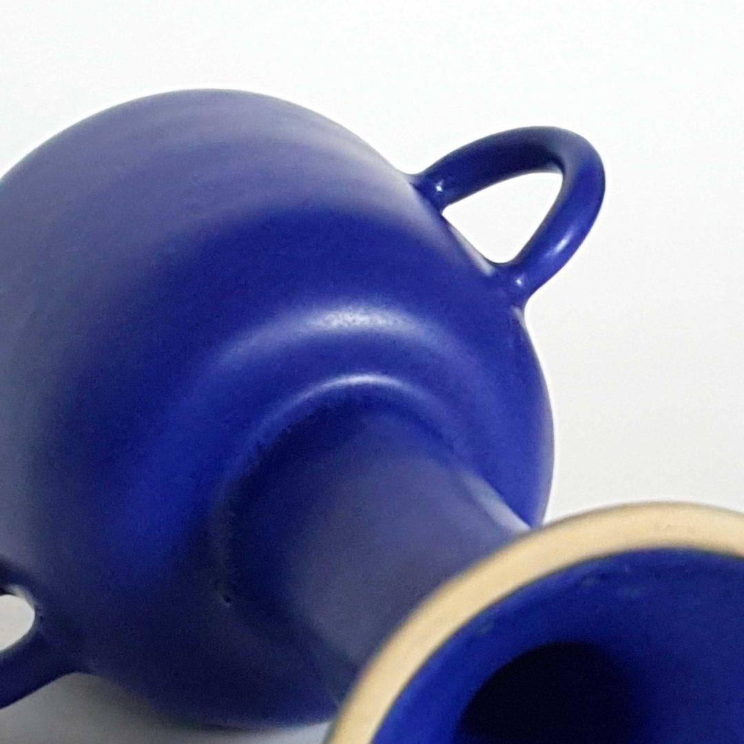Copa de cerámica 2 asas azul