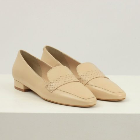 Creamy leather loafer