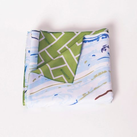 Pedrosa Escaleno printed multiuse towel