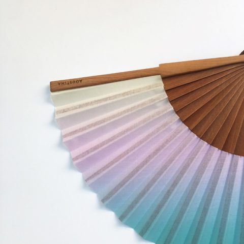 Grau Pastel multicolor printed fan