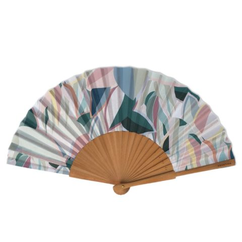 Grau Vallverdú vegetal printed fan