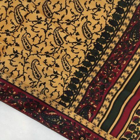 Yellow long saree printed kimono