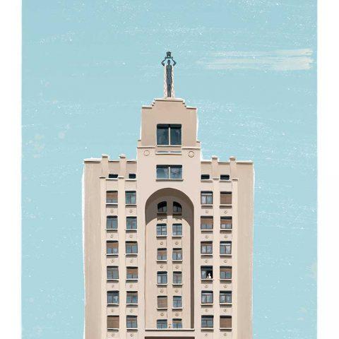 Ilustración «Gran Vía, 60» 40x50cm – ed. limitada