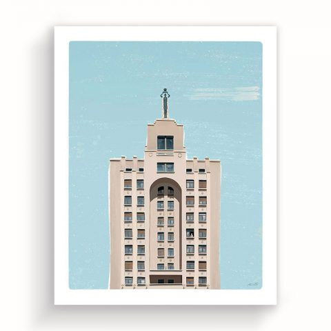 "Illustration ""60th Gran Vía"" 40x50cm – ltd edition"
