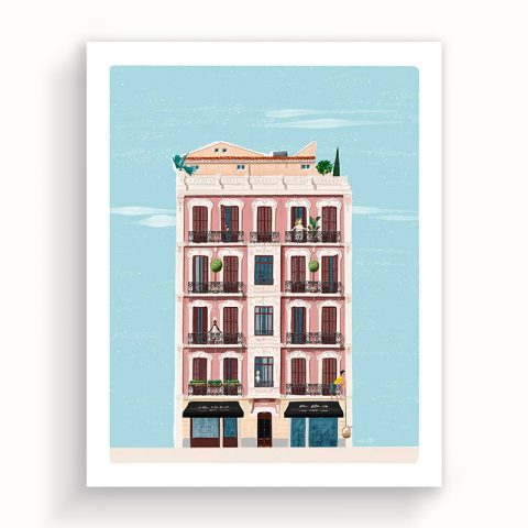 "Illustration ""3rd Milaneses Street"" 40x50cm – ltd edition"