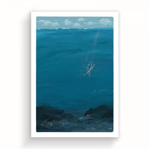 Underwater illustration 50x70cm – ltd edition