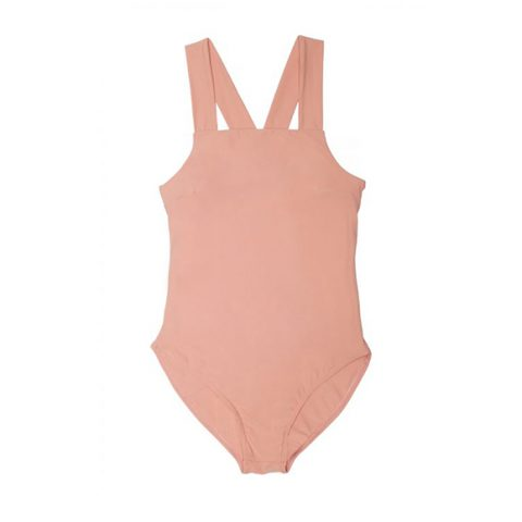 Pink sporty back swimsuit
