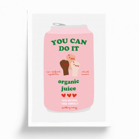 Ilustración «You can do it» 14,8 x 21 cm