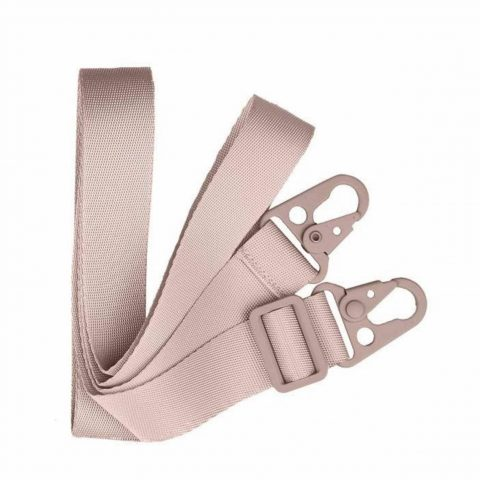 Dust pink crossbody iphone case w/ flat rope